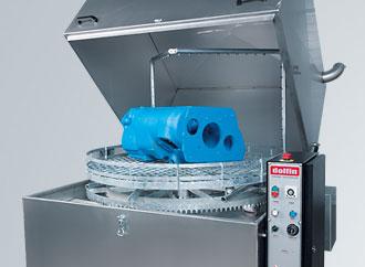 Lavadora automática con cesta rotativa